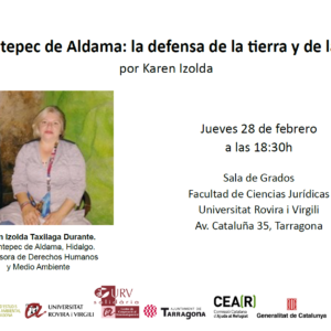 Charla con Karen Taxilaga en Universitat Rovira i Virgili