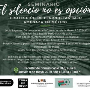 Jornada Protección de Periodistas en México 2019