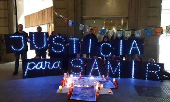 Protesta por el asesinato de Samir Flores en Barcelona