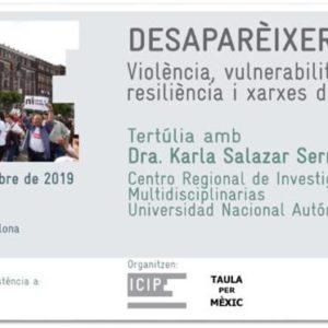 Desaparecer en México, tertulia con Karla Salazar