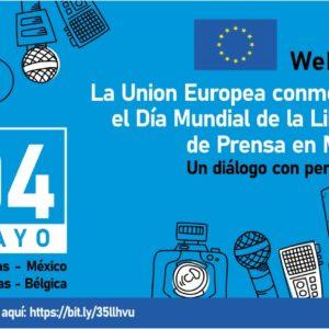 Webinar Día Mundial de la Libertad de Prensa en México. Un diálogo con periodistas