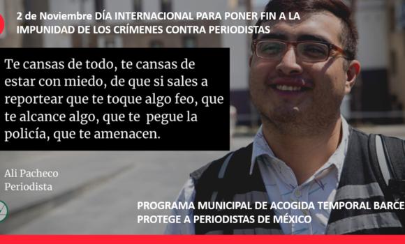 COMUNICAT  DIA INTERNACIONAL PER A POSAR FI A la IMPUNITAT DELS CRIMS CONTRA PERIODISTES 2020